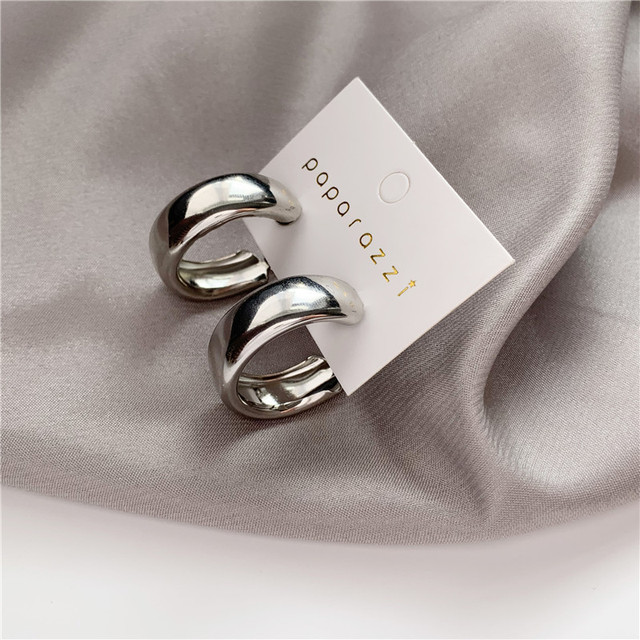 Minimalist Brand Hoop Circle Earring Woman 2020 New Vintage Gold Color korean Scrub Statement Big Earrings Accessories brincos 3