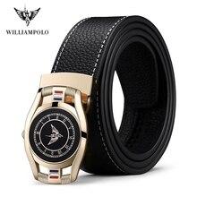 Williampolo 2020 Fashion Genuine Leather Men's Belt Automati