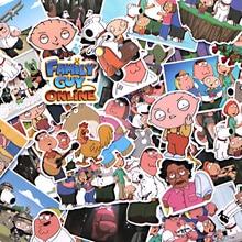 CA64 55PCS/set Family Guy TV Show DIY Skateboard Graffiti Laptop Badge Motorcycle Luggage Bags Accessories