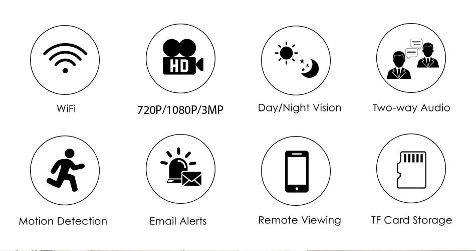 Hd4edb7d1498d427287477188a1f26f62i Hiseeu Home Security 1080P 3MP Wifi IP Camera Audio Record SD Card Memory P2P HD CCTV Surveillance Wireless Camera Baby Monitor