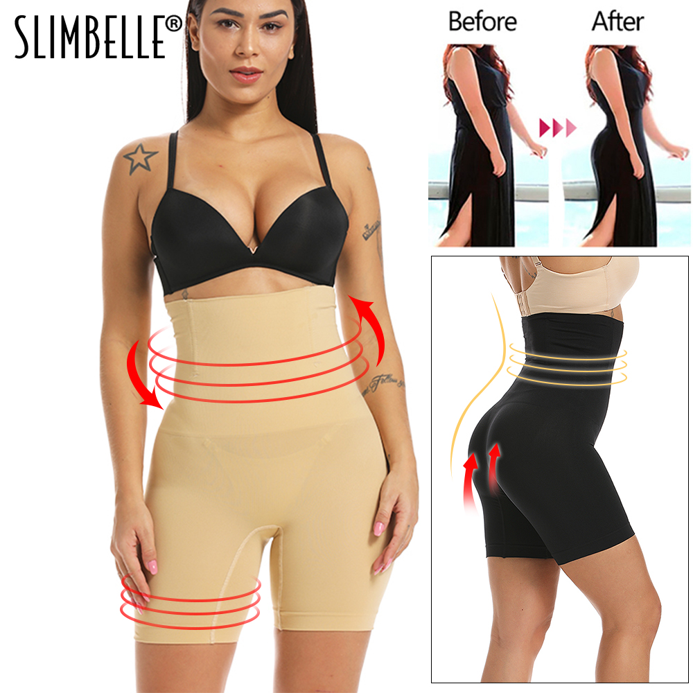 High Waist Shaping Panties Waist Trainer Breathable Body Shaper Slimming Belt Tummy Underwear Shapewear Control Panty Shapers