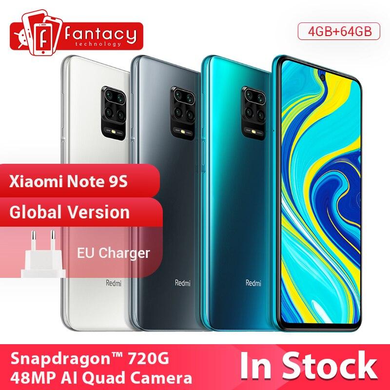 In Stock Global Version Xiaomi Redmi Note 9S 4GB 64GB Snapdragon 720G 48MP AI Quad Camera Smartphone Note 9 S 5020mAh|Cellphones|   - AliExpress