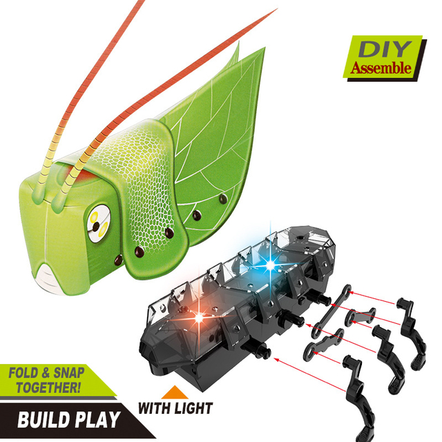 STEM Educational Tecnologia Toys for Children Science Experiment Technology DIY  Crawling Insect SeriesStem Toys for Kids Puzzle