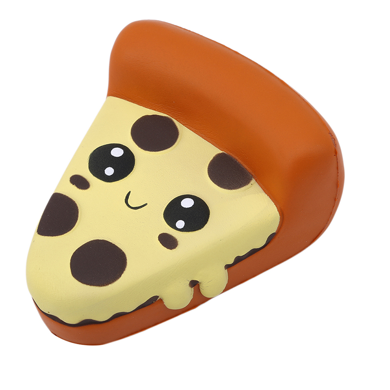 Childred's Adorable Developmental Silly Squishy Funny Toy Cartoon Pizza Charm Toy Slow Rising Squeeze Stress Reliever Toy