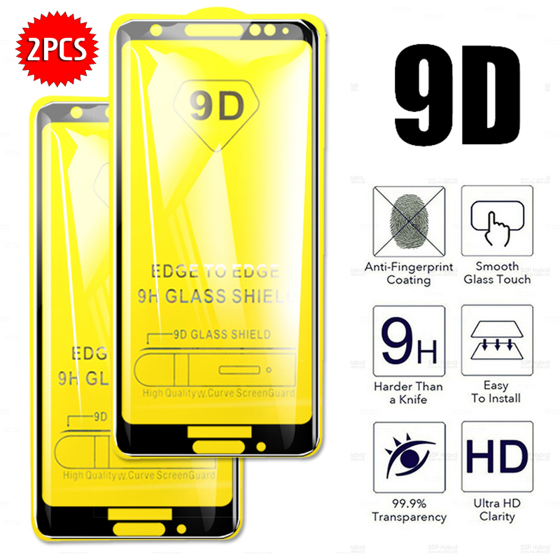 2Pcs 9D Tempered Glass for moto p30 play p30 note g7 power g7 g7 play g7 plus g6 g6plus g6 play e4 e5 plus Screen Protector Film image