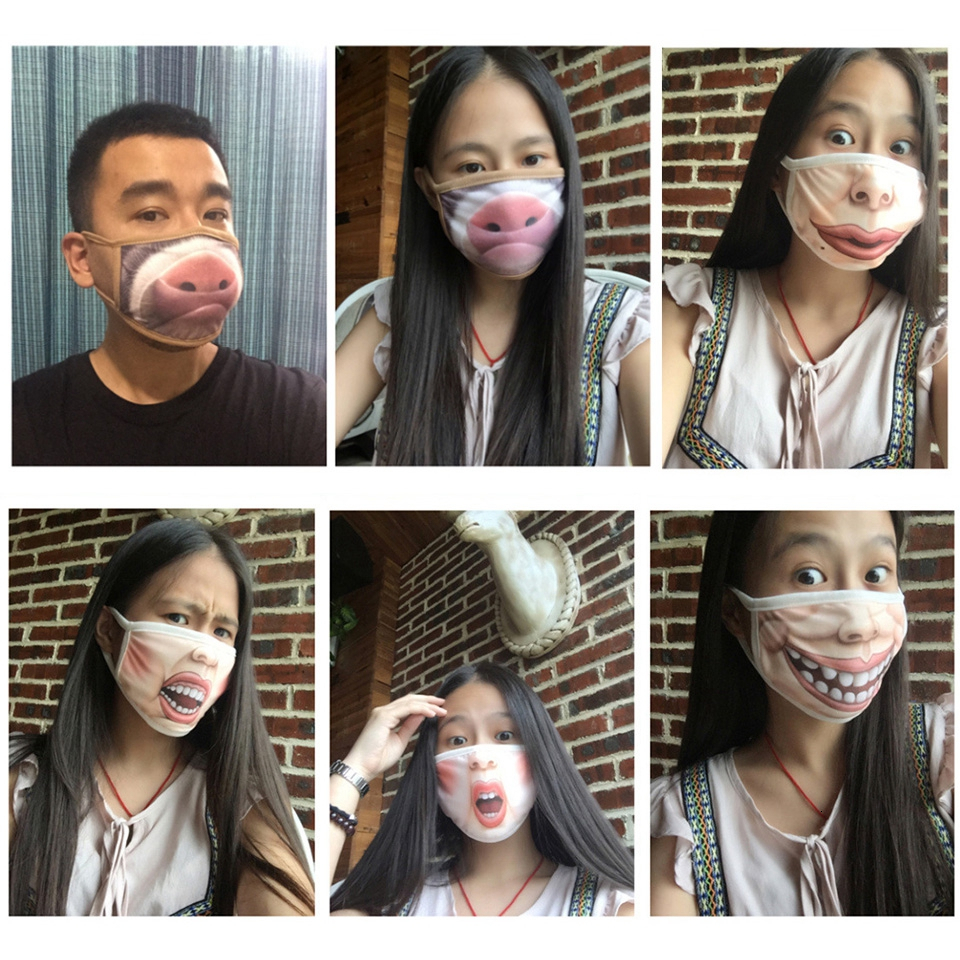 port des masques par differentes personnes