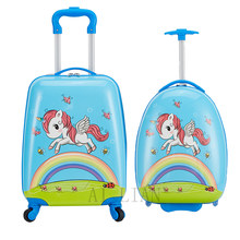 16''18inch kids trolley luggage bag child cartoon travel suitcase on wheels carry on trolley case cabin suitcase girls gift cute(China)