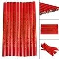 Плотницкие карандаши 10x175 мм, черные свинцовые для DIY строителей, столяров, деревообработки, новые канцелярские принадлежности