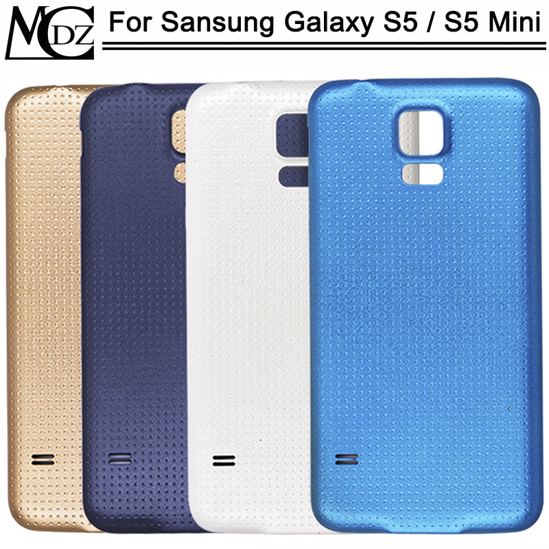 New For Samsung Galaxy S5 I9600 S5 Mini G800 Battery Cover Rear Back Door Glass Housing Case