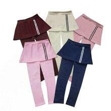 Baby Kids Leggings de algodón Niña Niño Patrón de rayas Pantalones de falda