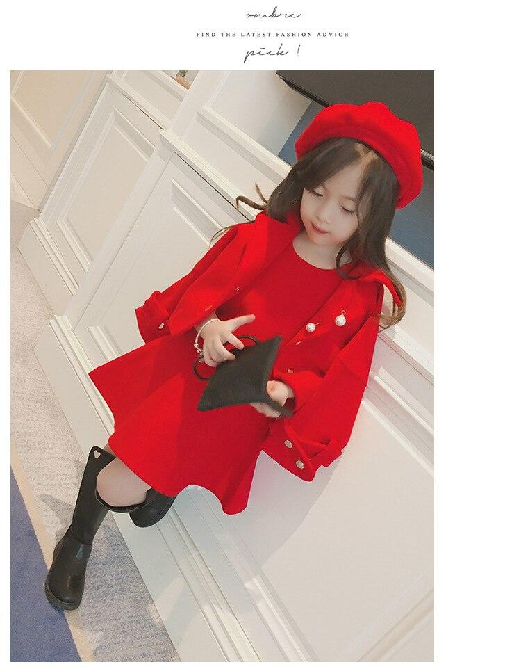 Children Girls Clothing Girls Winter Clothes 2019 Winter Baby Girls Warm Sleeveless Vest Dress +Woolen Jacket Coat 3PCS Sets (9)