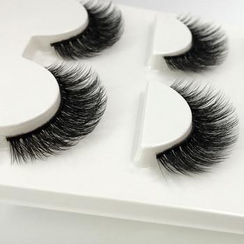 3 Pairs natural false eyelashes thick makeup real 3d mink lashes soft eyelash extension fake eye lashes long mink eyelashes 3d 1
