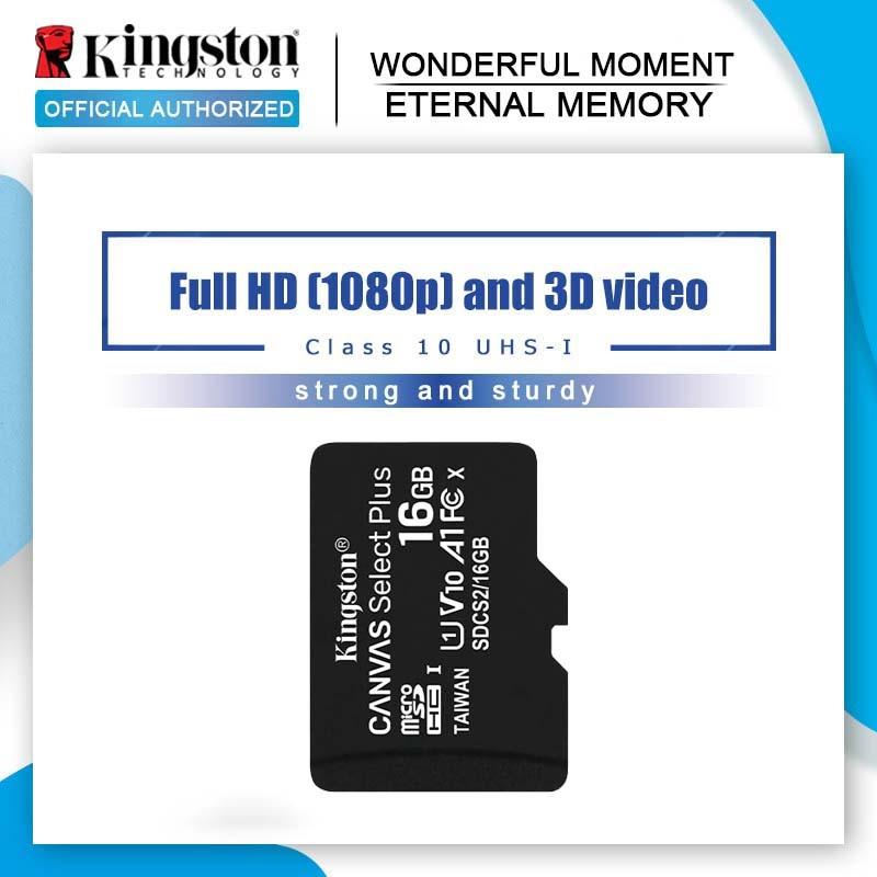 100% الأصلي كينغستون مايكرو SD بطاقة 64GB بطاقة الذاكرة 32GB 128GB Class10 TF بطاقة 16GB مايكرو SD UHS-1 8GB فئة 4 ذاكرة فلاش