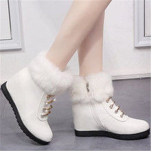 Winter Fashion Snow Boots Women Shoes Cotton Boots Female Warm Plus Velvet Sneakers Women Ankle Boots With Thick Fur Botas Mujer quanzixuan2018 new women boots winter ankle boots female waterproof warm women snow boots women shoes woman warm fur botas mujer