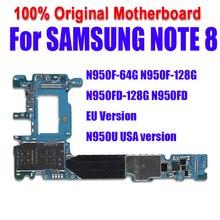100% протестированная разблокированная Логическая плата для Samsung Note 8 N950F / N950FD материнская плата 64 Гб полнофункциональная материнская плата