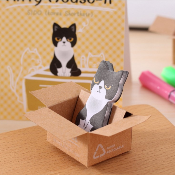 Stickers Stationery Notebook-Planner Office-Supplies Japanese Kawaii Cute Cat Memo Carton title=