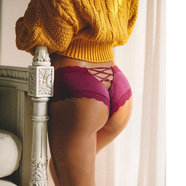 Satin Lace Panties (Back Bandage) Underwear