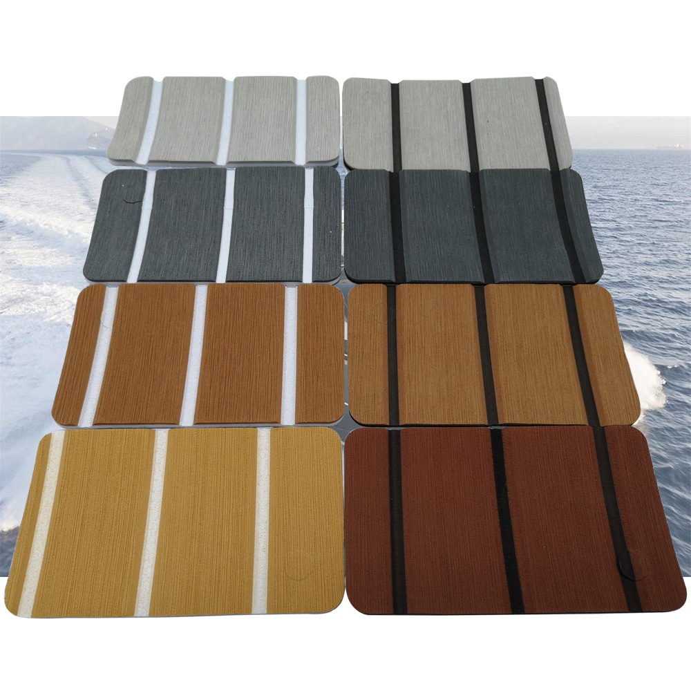 Sample Set EVA Foam Teak Decking Sheet For Yacht Marine Carpet Flooring Mat Non Skid Self Adhesive Sea Deck Boat Accessories
