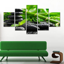 Modern Wall Art 5 Piece Bamboo pebbles Picture Canvas Print for Living Room Home Decoration Posters And Prints Canvas Painting(China)