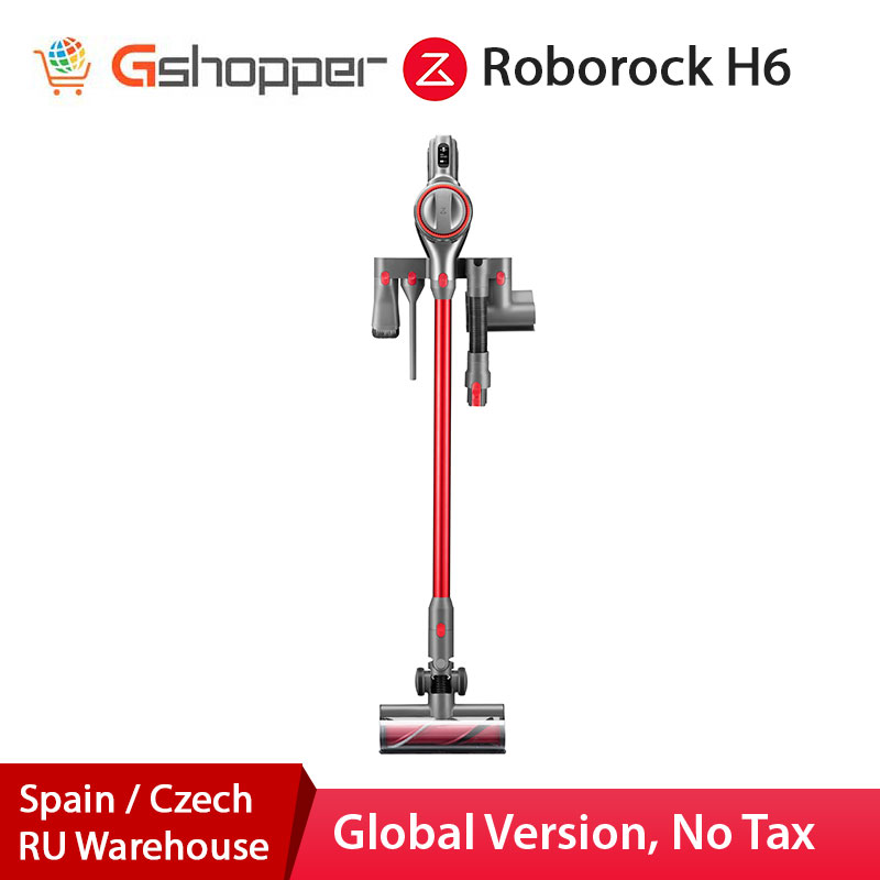 2020 Roborock H6 Adapt Cordless Vacuum Cleaner150AW Strong Suction 420W Brushless OLED Display Portable Wireless Handheld Vacuum