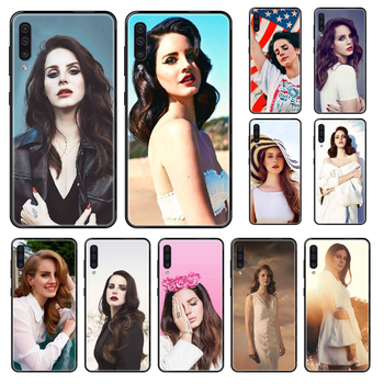 Singer Lana Del Rey Phone case For Samsung Galaxy A 3 5 8 9 10 20 30 40 50 70 E S Plus 2016 2017 2018 2019 black art shell soft image