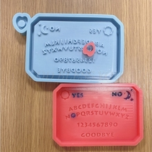 Silicone Mould Crafts Decorations Making-Tools Epoxy Resin Casting Hanging DIY Listed-Plate-Pendant