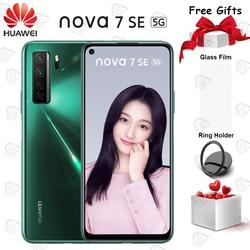 Новый оригинальный мобильный телефон Nova 7 SE 6,5 дюймов 8 ГБ + 128 ГБ Kirin 820 Восьмиядерный Android 10 Quad Camera 40W SuperCharger Smartphpone