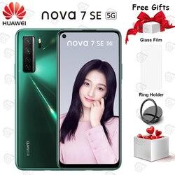 Смартфон Nova 7 SE, 6,5 дюйма, 8 + 128 ГБ, Kirin 820, 8 ядер, Android 10, 4 камеры, 40 Вт