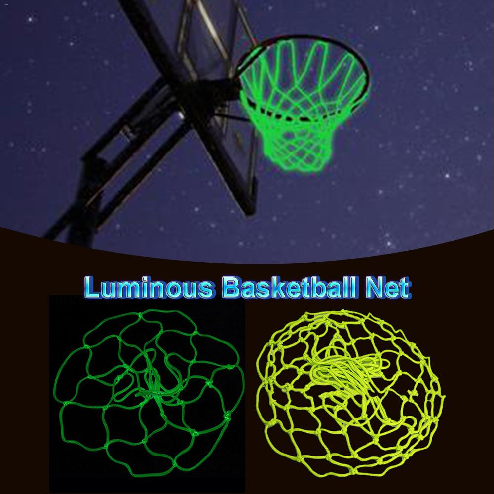 Glowing Light Shooting Training Green Yellow Luminous Basketball Net Backboard Rim Ball Mesh Nylon Standard Basketball Hoop Net