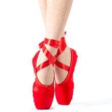 2019 ร้อนเด็กและผู้ใหญ่บัลเล่ต์Pointe Danceรองเท้าสุภาพสตรีProfessionalบัลเล่ต์รองเท้าเต้นรำริบบิ้นรองเท้าผู้หญิงจัดส่งฟรี