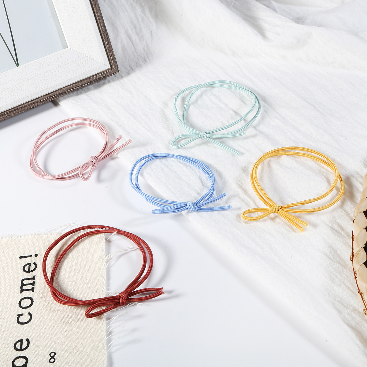 New Arrival Japanese And Korean Style Leather Case Elasitc Hair Bands Rubber Bands Simple Hair Ponytail Holder Hair Accessories