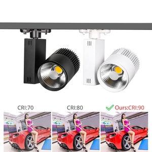 Image 5 - 40W Modern COB Track Light Dimmable Rail Spotlight Clothing Shop  Spotlight Lamps Fixtures Windows LED Track Lighting System