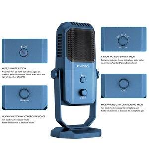 Image 3 - Профессиональный USB микрофон для студийной записи, конденсаторный микрофон с четырьмя направлениями для игрового вещания, микрофон для караоке