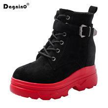 2020 Fashion Women Winter Platform Fur Snow Boots Warm Ankle Boots Chunky Casual Shoes Woman Autumn Hidden Heels High Sneakers(China)