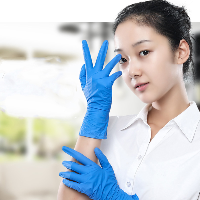 100 Pcs Disposable Non-Slip Rubber Latex Glove Household Cleaning Men Gloves Women Gloves Kitchen Mitten Latex Gloves For Adult