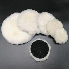 100% Lambs Wool Polishing Pad สำหรับ Polisher รถรายละเอียดเสร็จสิ้นกระจกขัด3/4/5/6/7นิ้ว