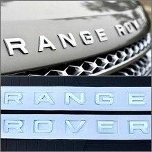 Abs estilo do carro tronco logotipo letras emblema para range rover sport evoque descoberta estilo do carro capô tronco logotipo emblema adesivo