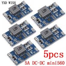 5pcs 5A DC-DC Mini560 Step-Down Stabilized Voltage Supply Module Output 3.3V 5V 9V 12V DC DC Buck Converter Regulator Mini 560