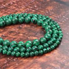 Fashion Green Malachite  Round Beads Loose Jewelry Stone 4/6/8/10 / 12mm Suitable For Making Jewelry DIY Bracelet Necklace