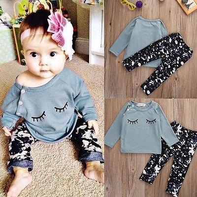 Pudcoco US Stock 0-24M 2 uds niños pequeños niños niñas trajes de niño camisetas + Leggings pantalones juego de ropa Mono sin mangas para niño recién nacido, sin mangas, con motivos florales, ropa para niña bebé