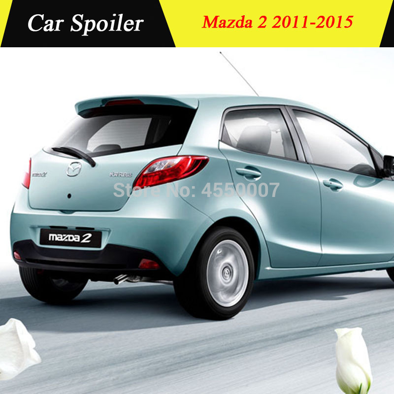 UBUYUWANT For <font><b>Mazda</b></font> <font><b>2</b></font> <font><b>Spoiler</b></font> High Quality ABS Material Car Rear Wing <font><b>Spoiler</b></font> For <font><b>Mazda</b></font> <font><b>2</b></font> Mazda2 hatchback <font><b>Spoiler</b></font> 2011-2015 image