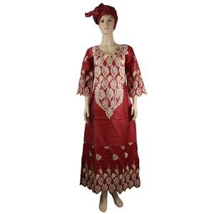 Image 5 - MD african bazin riche vestidos africanos tradicionales para mujer, bordado dashiki vestido largo, vestidos de talla grande para mujer