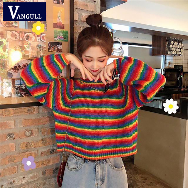 Women Oversized Crew Neck Knitted Pullovers Long Sleeve Dot Prined Loose Sweaters Tops for Lady Loose Casual Knit Pullover S, Gray
