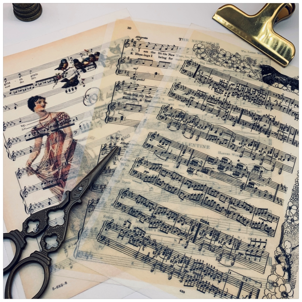 Vintage Music Note Paper Pack Pad DIY Craft Scrapbooking Album Junk Journal Happy Planner Decorative Paper