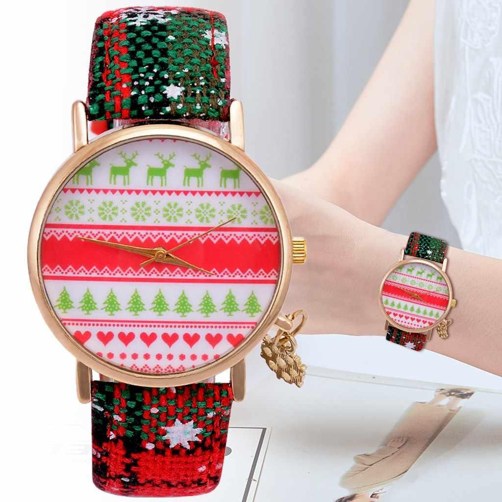 DUOBLA kadın saatler noel üst marka lüks su geçirmez kırmızı deri kar tanesi kuvars kolye kadın İzle Reloj Mujer