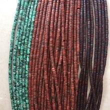 2*4 мм Heishi бирюзовый Красный Брекчиевидные крапчатые натуральные драгоценные камни целебная сила натуральный камень бусины для изготовления ювелирных изделий ожерелье DIY