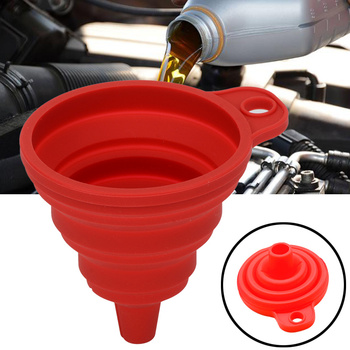 Samochód Auto silnik lejek benzyna oleju paliwa benzyna Diesel płyn do mycia płyn zmiana wypełnienia Transfer uniwersalny składany silikon tanie i dobre opinie NONE CN (pochodzenie) Silicone folding funnel