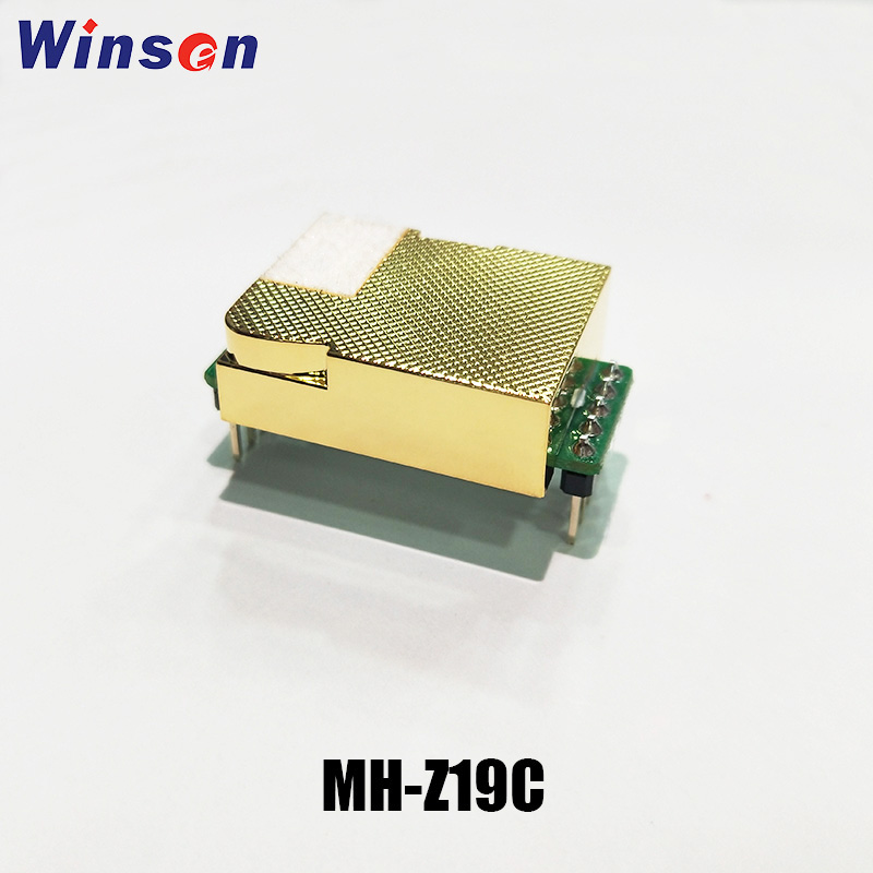 1 pces winsen MH-Z19C ndir co2 sensor de alta sensibilidade baixo consumo de energia sensor dióxido carbono uart pwm saída longa vida útil