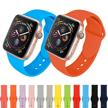 Soft Silicone Sport band For Apple watch 5 4 band 44mm 40mm Breathable Replacement Watch Strap For iWatch series 3 2 1 38mm 42mm цена