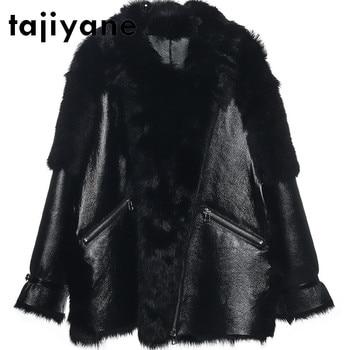 Tayyane-Chaqueta de piel auténtica para Mujer, abrigos de piel de lana Natural,...